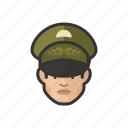 asian, avatar, avatars, general, man, military, uniform icon