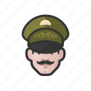 avatar, avatars, general, man, military, uniform icon