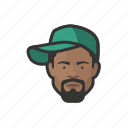 african, avatar, avatars, baseball cap, hat, hiphop, man icon