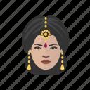 avatar, avatars, hindu, indian, saree, woman icon