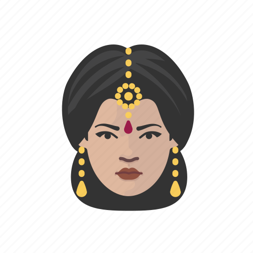 avatar, avatars, hindu, indian, saree, woman icon