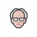 avatar, avatars, man, old man, professor icon