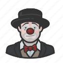 bowtie, circus, clown, hobo, sad