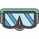 diving, glasses, snorkel, goggles, protection