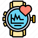 healthy, heart, monitor, rate, smartwatch icon
