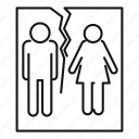 conflict, couple, divorce, husband, marriage, photo, problem icon