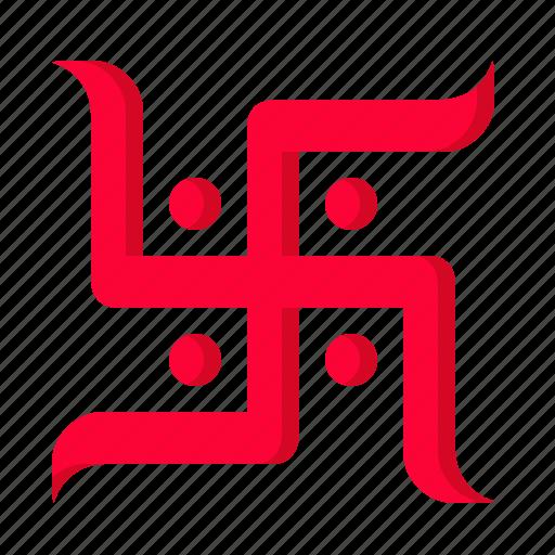diwali, festival, godess, indian, laxmi, saraswati, swastik icon