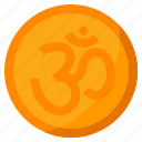 celebration, diwali, festival, om, rangoli, sticker icon