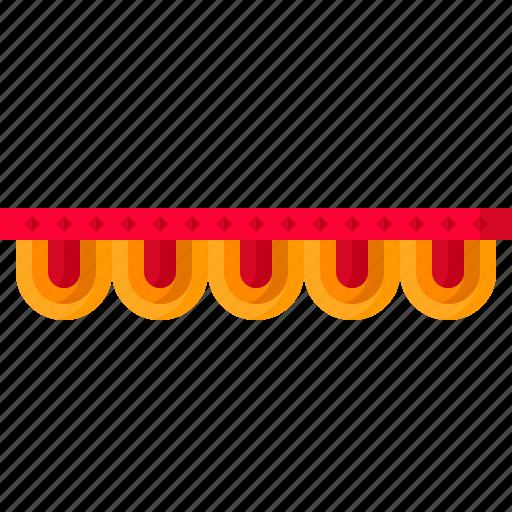 arch, decoration, diwali, festival, indian, toran, zummar icon