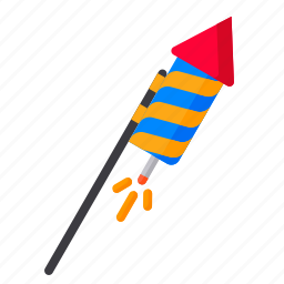 bomb, crackers, diwali, festival, firecrackers, hindu, rocket icon