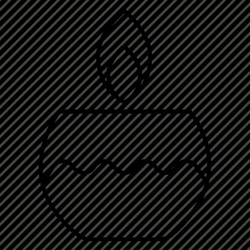 Candle, decoration, diwali, diya, flame icon - Download on Iconfinder