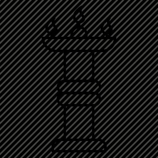 candelabra, candle, decoration, diwali, flame icon