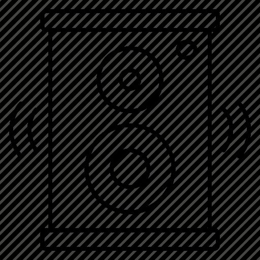 audio, loud, sound, speaker, woofer icon