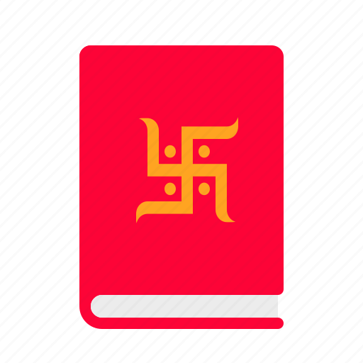 book, chopda, diwali, festival, indian, pujan, swastik icon