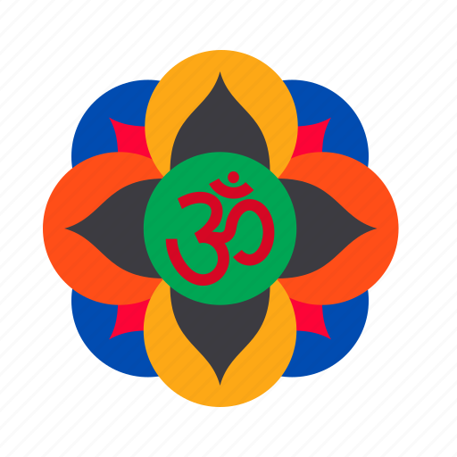 decoration, diwali, festival, hindu, indian, rangoli, sticker icon