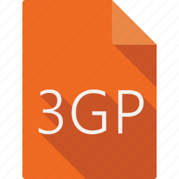 3gp, document, file, file format, page, paper, sheet icon