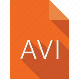 avi, document, file, file format, page, paper, sheet icon