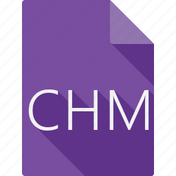 chm, document, file, file format, page, paper, sheet icon