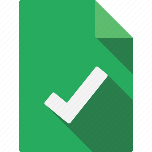 accept, document, file, page, paper, sheet icon