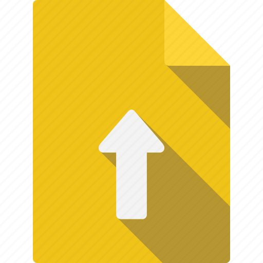 arrow, document, file, page, paper, sheet, up icon