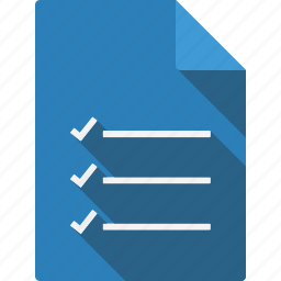 checklist, document, file, page, paper, sheet icon
