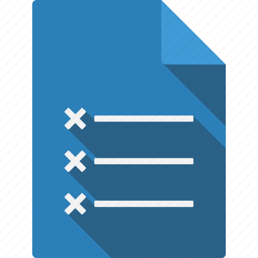 crosslist, document, file, page, paper, sheet icon