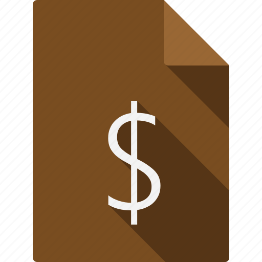 currency, document, file, page, paper, sheet icon