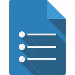 document, dotlist, file, page, paper, sheet icon