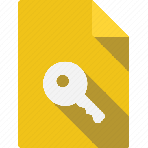 Paper, sheet, page, document, key, file icon - Download on Iconfinder