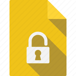 document, file, lock, page, paper, sheet icon