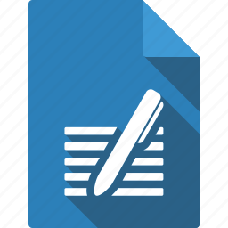 document, file, page, paper, pen, sheet icon