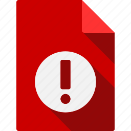 document, file, page, paper, sheet, warning icon
