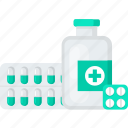bottle, drugs, medical, medicine, pill icon