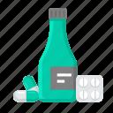 bottle, helth, helthcare, medical, medicine, pill icon
