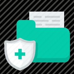file, folder, helth, medical, protection, safety icon