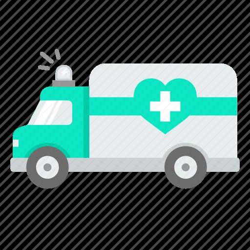 ambulance, car, emergency, helth, medical, service icon