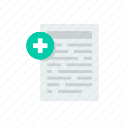 document, helth, medical, paper, report icon