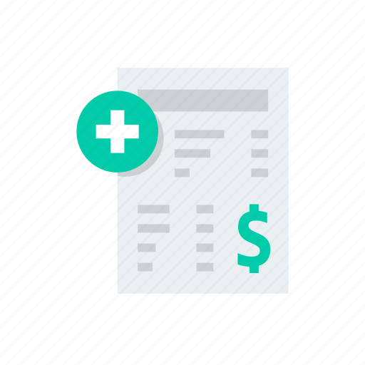 bill, helth, hospita, medical, medicine, payment icon