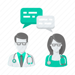 chat, communication, conversation, doctor, doctors, help icon