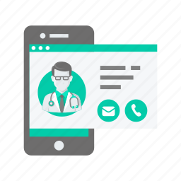 assistance, call, contact, doctor, help, mobile icon