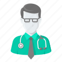 avatar, doctor, helth, hospita, man, treatment icon