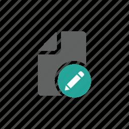 document, edit, file, letter, paper, pen, pencil icon