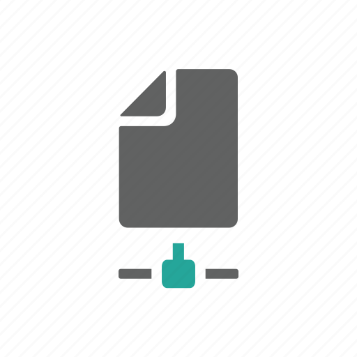 connect, document, file, letter, network, paper icon