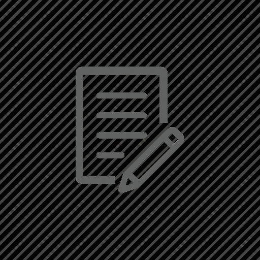 change, document, edit, file, pen, pencil icon