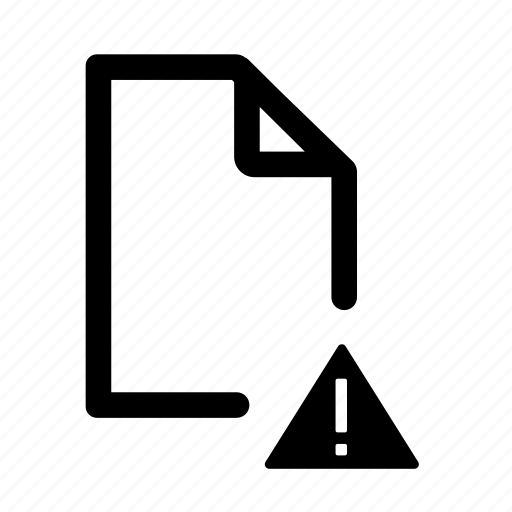.doc, document, document error, document warning, error, file, warning icon