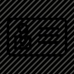 id, long shadow, person icon