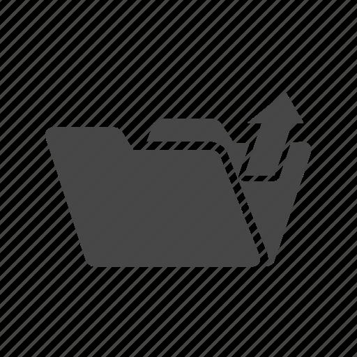 document, file, folder, up, write icon
