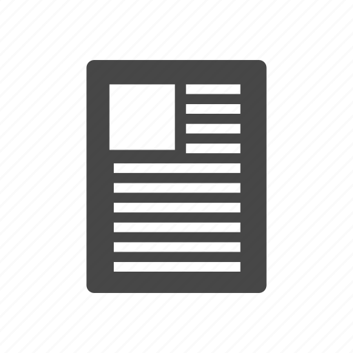 document, file, letter, paper icon