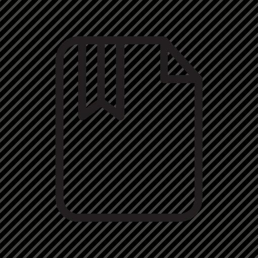 bookmark, document, file, paper icon