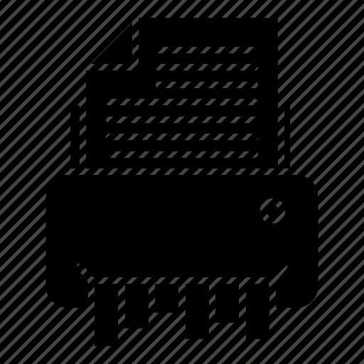 document, file, office, shredder icon
